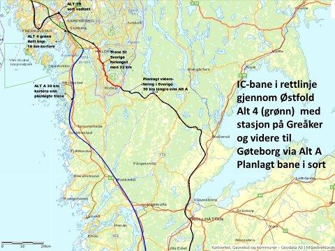 50 km kortere Hybridbane fram til Svinesund og Gøteborg
