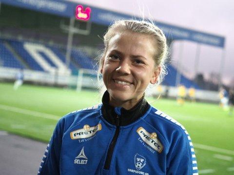 Viktig: Camilla Bønøgård har skrevet under for to nye år for Sarpsborg 08. Foto: Tobias Nordli.