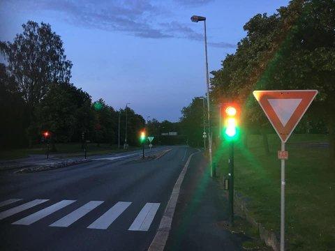 Trafikklysene i Borregaardsbakken fungerer nå som normalt etter de streiket torsdag kveld.