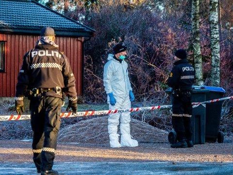 Politiet iverksatte full drapsetterforskning etter at en 25 år gammel kvinne ble drept i en bolig på Borgenhaugen i romjula i fjor. Nå konkluderer rettspsykiaterne med at hennes 34 år gamle drapssiktede ektemann var psykotisk på gjerningstiden.