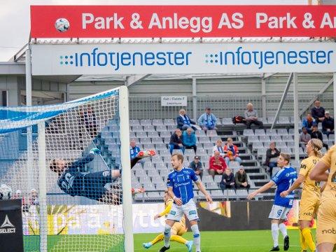 Åpnet godt: Sarpsborg 08s lånekeeper keeper Alexandre Letellier har vært meget positiv så langt i klubben.