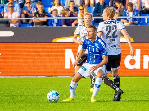 FRA START: Mario Pavelic spiller fra start i kveldens kamp mot Viking i Stavanger.