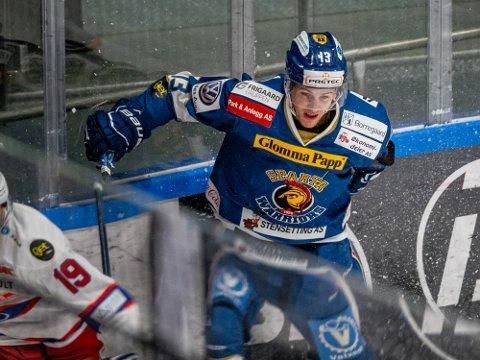 Stygg smell: Håkon Løken Pedersen pådro seg en lei smell på trening tirsdag og i verste fall kan sesongen være over.