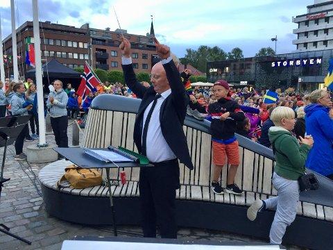 Ny dirigent: Frode Amundsen er ny dirigent for Sarpsborg janitsjarkorps.
