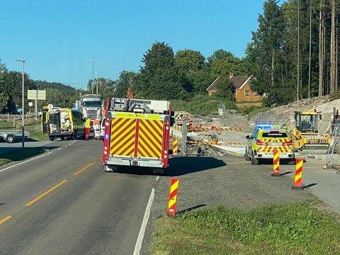 Ulykken på Haldenveien 31. august førte til at en motorsyklist måtte amputere ett ben.