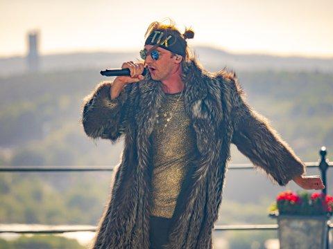 Andreas  «TIX» Haukeland opptrådte på Allsang på grensen i sommer.
