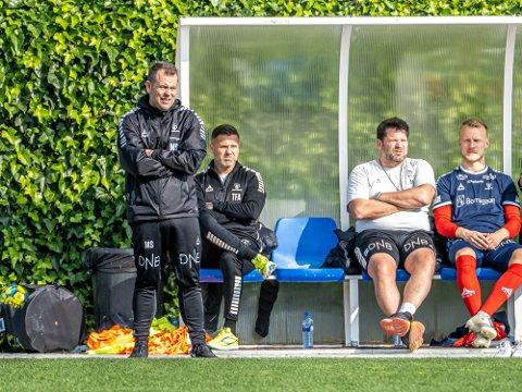Full jobb: Fra 1. juni er alle tre Mikael Stahre, Tom Freddy Aune og Erik Holtan tilbake i full jobb i Sarpsborg 08. Til nå er det bare Mikael Stahre som har vært det.
