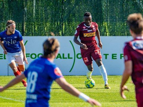 Tenker ikke på: Sarpingen Brice Wembangomo i  Sandefjord trodde at saken var over, men glad for at Norges Fotballforbund tar dette på alvor.