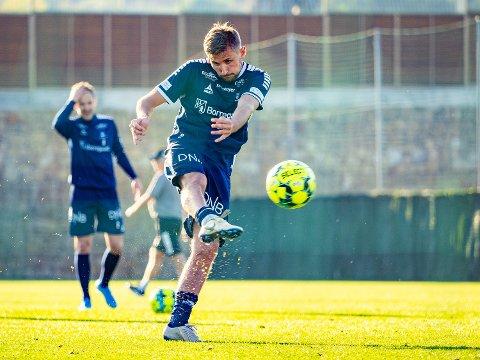 Ønsker veldig: Tromsø jobber fortsatt med å overtale Sarpsborg 08s spissen Steffen Lie Skålevik til å flytte til Tromsø.