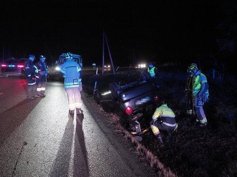 Én person var involvert i trafikkulykke på Oldtidsveien tirsdag kveld.