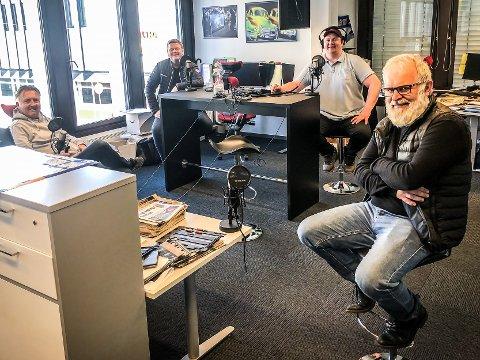 SA-PODDEN: Petter Kalnes, Bjørn Inge «Bingen» Nilsen, Patrick Walther Larsen og Øistein Veberg.
