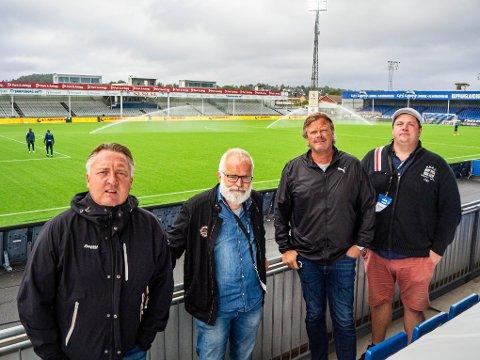 SA-PODDEN: : Petter Kalnes, Øistein Veberg, Bjørn Inge «Bingen» Nilsen og Patrick Walther Larsen.