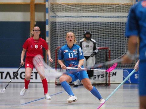 GOD DEBUT: Emma Sjökvist leverte en god debut for Sarpsborg med to scoringer og to assist, men hun kunne ikke hindre at det ble tap i seriepremieren.