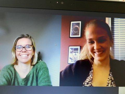 «Sammen, hver for oss»: Hanne Rosbach (til venstre) og Maria Skundberg Strøm i «Sammen skaper vi det gode hjemstedet», ber inn til frokostmøte 25. februar, hvor lag, foreniger og privatpersoner inviteres fir å lære mer om hvordan man kan sosialisere seg digitalt. Intervjuet ble for øvrig gjort via Teams.