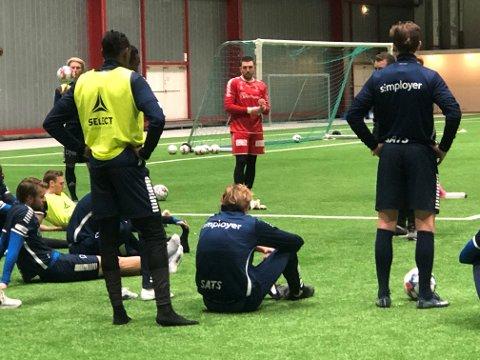 Første trening: Anders Kristiansen var lørdag tilbake på Sarpsborg 08 trening igjen.