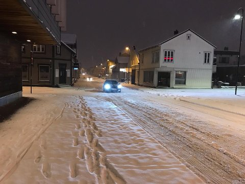 Det kan komme mye snø natt til torsdag i Sarpsborg. Arkivfoto: Morten Øby