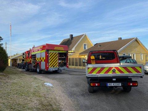 Brannvesenet rykket lørdag morgen ut til et branntilløp i et hus i Tjernveien på Hafslundsøy.