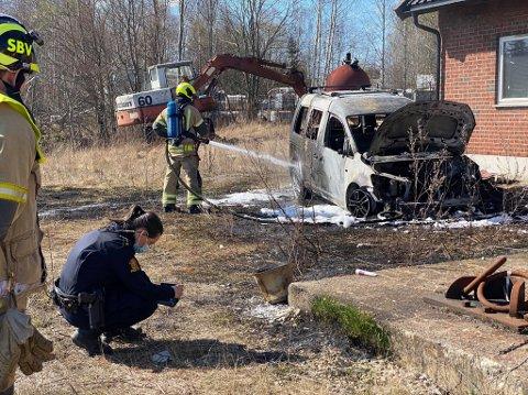 Sarpsborg brannvesen rykket ut til en bilbrann i Greåkerveien.