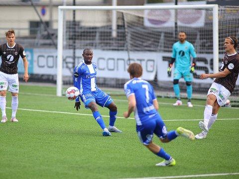 SCORING: Ibrahima Koné scoret ledermålet mot Mjøndalen i generalprøven før seriestart for Sarpsborg 08.