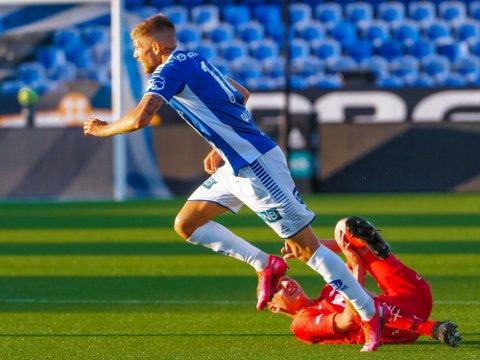 Anton Saletros starter som venstreving. Arkivfoto: Thomas Andersen