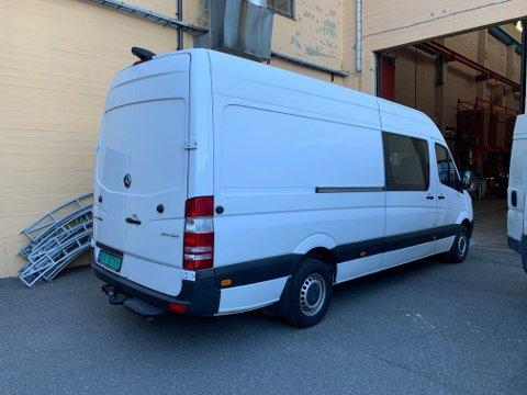 STJÅLET: I løpet av forrige helg har noen stjålet arbeidsbilen til Jan Tage Baller.