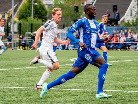 Sulayman Bojang i kampen mellom Nordstrand og Sarpsborg 08  Foto: Jesper Malthus-Andersen