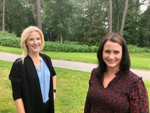 GRATIS SFO: Elise Bjørnebekk-Waagen og Therese Thorbjørnsen i Arbeiderpartiet lover at det skal innføres gratis SFO for førsteklassinger dersom partiet kommer til makten.