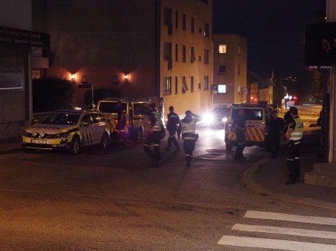 Den grove voldsepisoden de to er siktet for utspant seg i Rosenkrantz gate i Sarpsborg sentrum tirsdag 7. september.