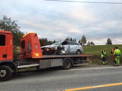 En person ble kjørt til sykehus etter trafikkulykken på E18