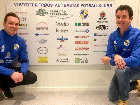 GLEDER SEG: Morten Fladberg (til høyre) gleder seg til å trene A-laget til Trøgstad/Båstad neste sesong. Han er også glad for at fjorårstrener Stian Filtvedt blir med videre som hjelpetrener.