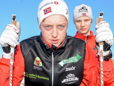 KLAR: Magnus Rømuld Sandham fra Askim fyller først 16 år i desember. Kun en amerikaner er yngre i lørdagens Birkebeinerrenn. Kompis Eirik Blågestad skal også gå. Han fyller 16 år i april.