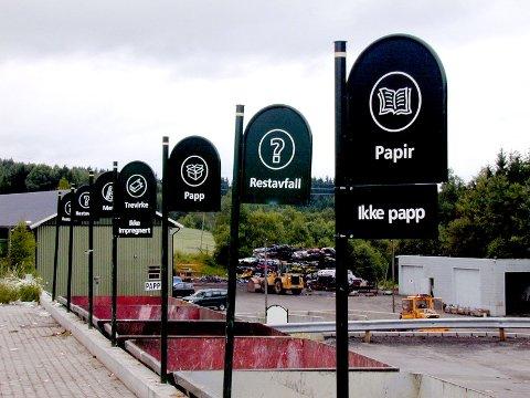 Avfall sorteres og sendes for gjenvinning ved Indre Østfold renovasjon.