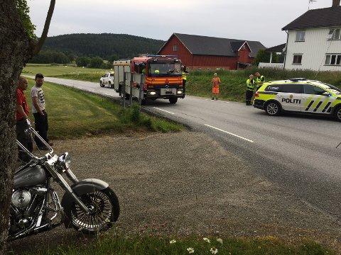 Det var ved avkjørselen til Sentvetveien at ulykken skjedde. Foto: Trond Eivind Nilsen.