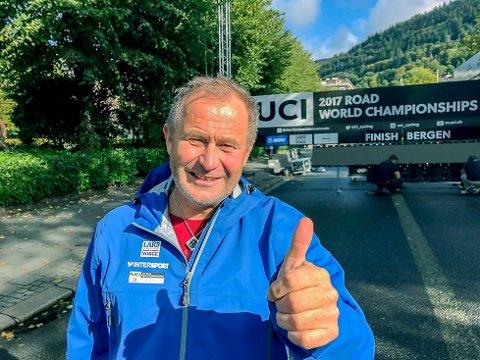 Gleder seg: Kjell-Erik Kristiansen har lang fartstid som speaker og kommentator, men sykkel-VM i Bergen blir et høydepunkt for Mysen-mannen.