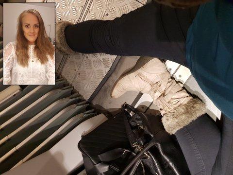 FIKK IKKE PLASS: Marit Emelie Ervik (bildet) fra Knapstad i Hobøl måtte ta til takke med gulvplass på toget.