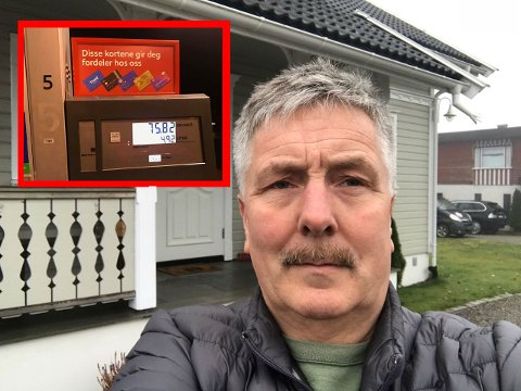 Ole Asbjørn Haugerud sier det bare kom luft ut av pumpa da han skulle fylle bensin på Esso'n på Ramstad. Likevel kostet det han 75 kroner.