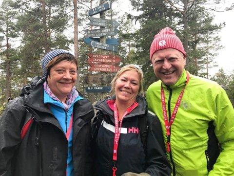 ENIGE: Ordførerne Ellen Solbrække (Rakkestad) (f.v.), Kjersti Nythe Nilsen (Marker) og Erik Unaas (Eidsberg) går sammen med de andre Østfold-ordførerne ut med en felles uttalelse om o-VM i 2019.