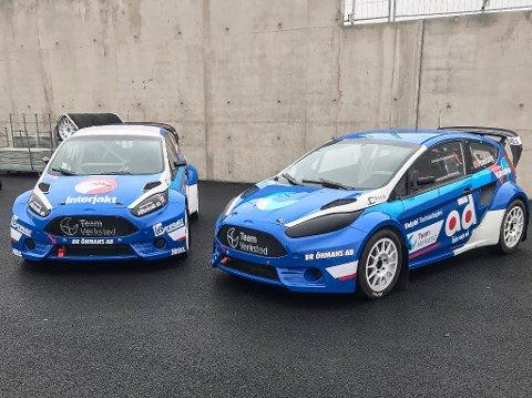 NYTT DESIGN: Slik ser bilen Thomas Bryntesson og Ola Frøshaug skal kjøre i årets EM i rallycross.