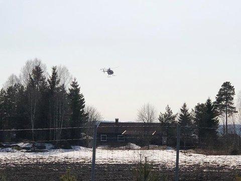 Dette helikopteret ble observert av mange indre østfoldinger sist helg.