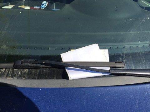 Totalt fikk fire bilister bot etter feilparkering ved Lyseren.