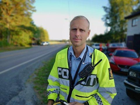 GJORDE UNDERSØKELSER: Politiets innsatsleder på stedet, Håvard Nybråten.