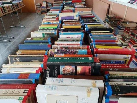 GAMLE BØKER: Trøgstad kommune vil gjerne bli kvitt bøkene i det gamle biblioteket.