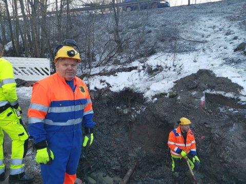 – Rundt 30 liter vann gikk ut av røret i sekundet før det ble stengt av, sier Trond Jahren hos teknisk drift i Eidsberg kommune.