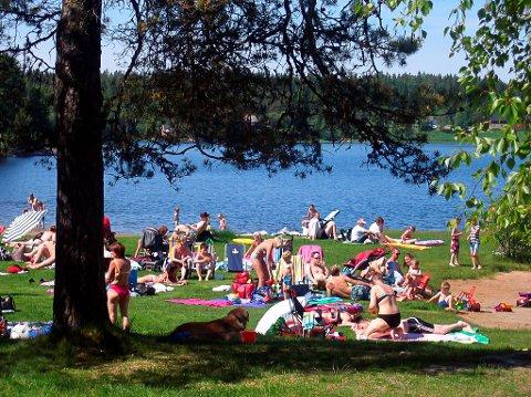 Lundebyvannet er ett av flere badesteder som nå har fått testet vannkvaliteten.