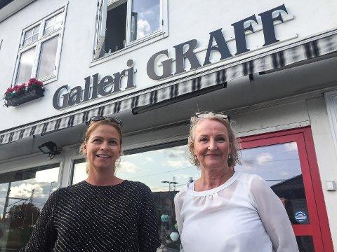 Åpner kunstutstilling: Heidi Fredstad Bjerkland og Eva Husebråten åpner kunstutstilling på Galleri Graff – det samme stedet som de møttes for 12 år siden.