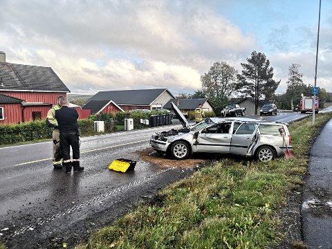 SINGELULYKKE: En kvinne i 30-årene var uheldig i Trømborgveien i ettermiddag.