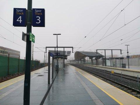 STILLE: Det er langt færre enn normalt som tar toget denne uken.