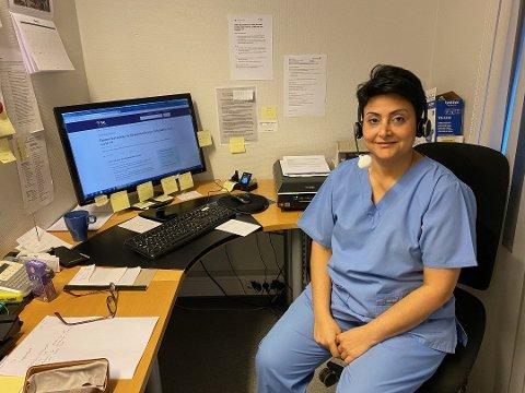 Golbon Sardzadeh arbeider som fastlege ved Sentrumsgården legekontor. Hun forteller om lange arbeidsuker og at motivasjonen for yrket aldri var lønnen.