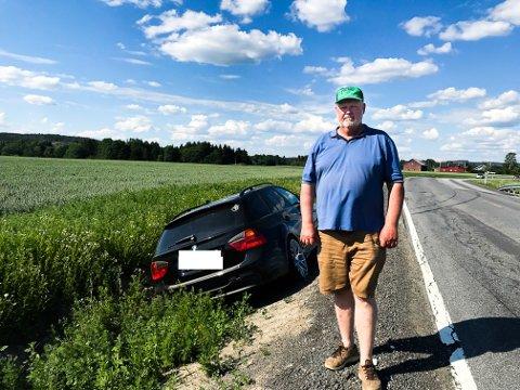 ØNSKER TILTAK: Harry Hvidsten (61) mener strekningen er ulykkesutsatt.