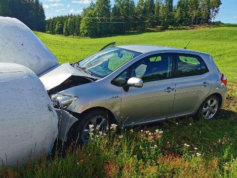 Føreren av bilen var en mann i 70-årene fra Moss.